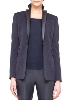 Akris punto Single-Button Tech Jacquard Jacket