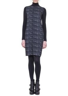 Akris punto Ski Lift Printed Mock-Neck Dress