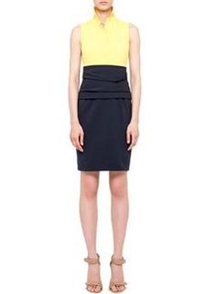 Akris punto Sleeveless Colorblock Cummerbund Dress