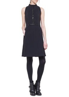 Akris punto Sleeveless Embellished Neoprene Dress