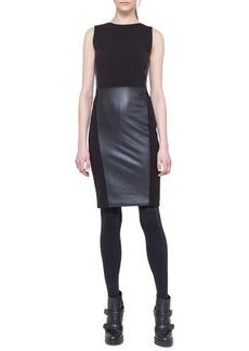 Akris punto Sleeveless Paneled Combo Dress