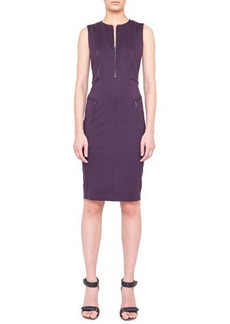 Akris punto Sleeveless Zipper-Trim Jersey Dress