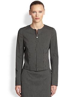 Akris Punto Stretch Cotton Micro Stripe Jacket