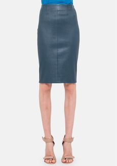 Akris punto Stretch Leather Pencil Skirt