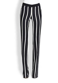 Akris Punto Striped Wool Faye Pants
