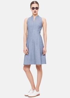 Akris punto Textured Cotton Blend Fit & Flare Dress