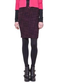 Akris punto Tweed Neoprene-Waist Pencil Skirt