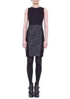 Akris punto Tweed-Panel Sheath Dress