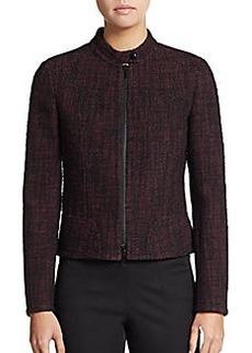 Akris Punto Tweed Tab Collar Jacket