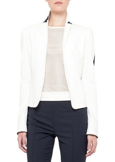 Akris punto Two-tone jacket, techno-cott