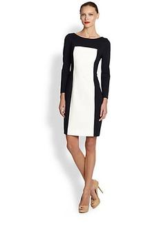 Akris Punto Two-Tone Jersey Dress