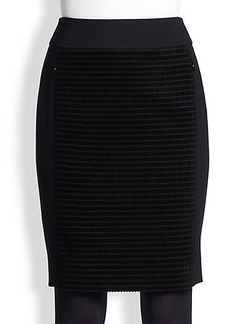 Akris Punto Velvet-Front Pencil Skirt
