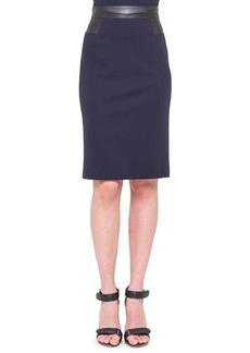 Akris punto Waist-Trim Jersey Pencil Skirt