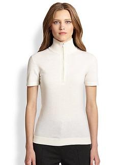 Akris Punto Wool & Cashmere Zip-Front Sweater
