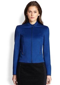 Akris Punto Wool-Angora Moto Jacket