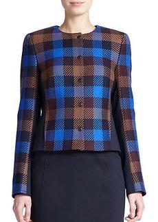 Akris Punto Wool Check Jacket