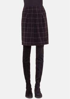 Akris punto Wool Check Skirt