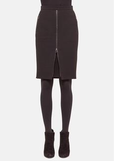 Akris punto Zip Detail Wool Pencil Skirt