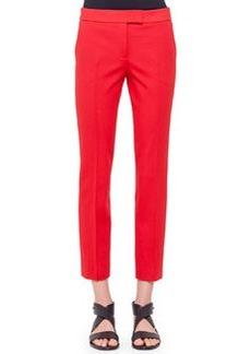 Frankie Slim-Fit Ankle Pants, Rouge   Frankie Slim-Fit Ankle Pants, Rouge