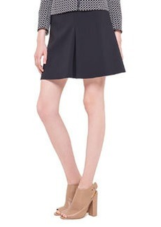 Godet Techno-Fabric Short Skirt, Noir   Godet Techno-Fabric Short Skirt, Noir