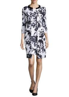 Albert Nipon Abstract Floral-Print Jacket & Dress