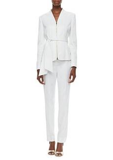 Albert Nipon Crepe Two-Piece Suit  Crepe Two-Piece Suit