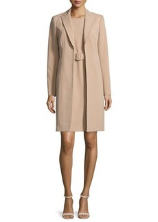 Albert Nipon Jacket & Belted Sheath Dress Set  Jacket & Belted Sheath Dress Set