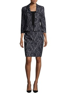 Albert Nipon Lace Skirt Suit