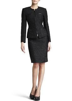 Albert Nipon Metallic Tweed Suit  Metallic Tweed Suit