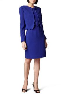 Albert Nipon Scallop Jacket and Dress  Scallop Jacket and Dress
