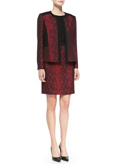 Albert Nipon Sleeveless Sheath Dress with Matching Jacket  Sleeveless Sheath Dress with Matching Jacket
