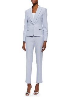 Albert Nipon Striped Two-Piece Pant Suit