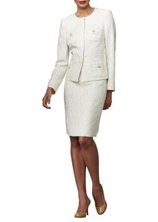 Albert Nipon Tweed Skirt Suit