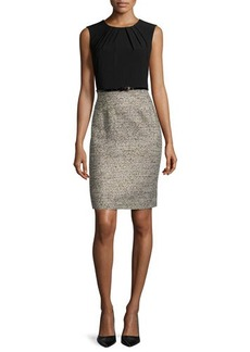 Albert Nipon Two-Tone Sheath Dress W/Matching Jacket