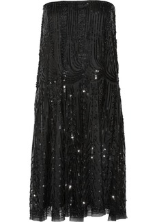 Alberta Ferretti Embellished tulle dress