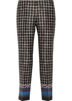 Alberta Ferretti Printed cotton and silk-blend pants