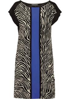 Alberta Ferretti Printed silk mini dress