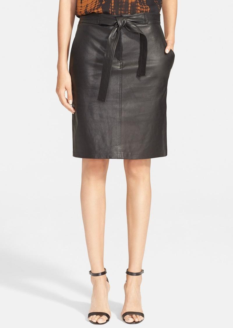 a l c a l c abigail leather pencil skirt skirts