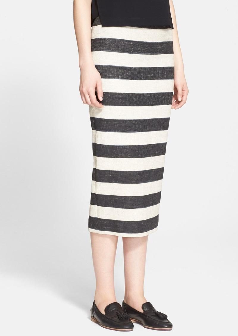 a l c a l c stripe midi pencil skirt skirts