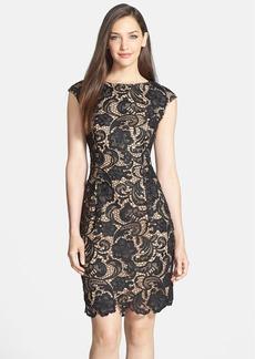 Alex Evenings Cap Sleeve Lace Dress