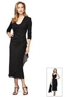 Alex Evenings® Elbow Sleeve Jacket Tea Lenght Dress
