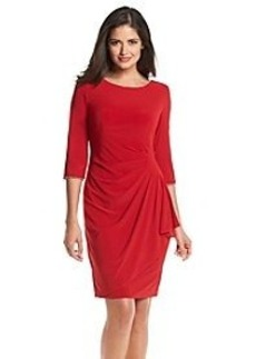Alex Evenings® Elbow Sleeve Rhinestone Trim Dress