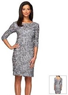 Alex Evenings® Elbow Sleeve V-Back Short Dress