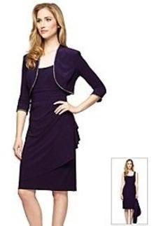 Alex Evenings® Elbow Sleeve Wrap Dress
