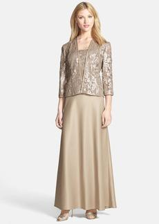 Alex Evenings Embellished Chiffon Gown & Jacket (Regular & Petite)
