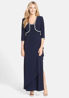 Alex Evenings Embellished Jersey Gown & Jacket (Regular & Petite)