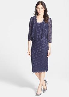Alex Evenings Embellished Lace Pencil Dress & Jacket (Regular & Petite)