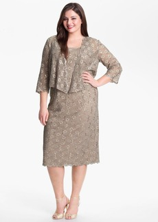 Alex Evenings Embellished Lace Sheath Dress & Jacket (Plus Size)