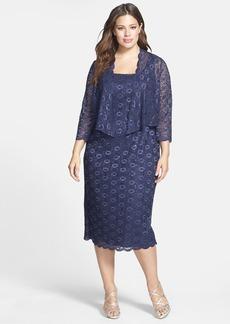 Alex Evenings Embellished Lace Sheath Dress & Jacket (Plus Size)