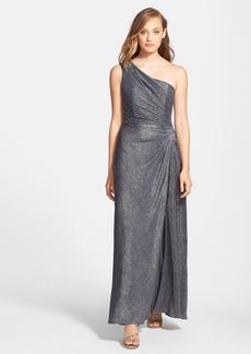 Alex Evenings Embellished One-Shoulder Jacquard Gown
